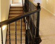 Trillium upper stair railing with loft