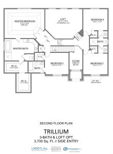 Trillium - 3-Bath + Loft - First Floor