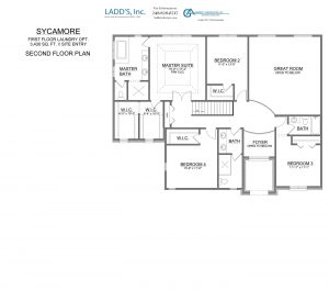 Sycamore - Second Floor - 1st Floor Laundry Option