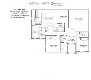 Sycamore - Second Floor - 2nd Floor Laundry Option